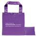 """12"""" x 12"""" Polyester Folding Tote with Snap Closure"""