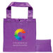"12"" x 12"" Polyester Folding Tote with Snap Closure - Full Color Printing"