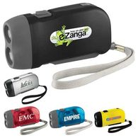 Compact Flashlight - 2 LED - Squeeze Handle to Charge
