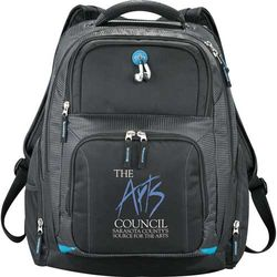 "Zoom® TSA Compliant Compu-Backpack Holds Most 15"" Laptops."