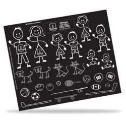 Family Decal Sheets (Removable)