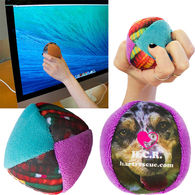 Deluxe Microfiber Stress Ball with Full Color Printing - Cleans Glasses, Screens and Gadgets