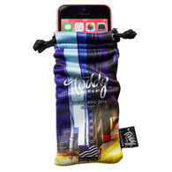 Deluxe Microfiber Pouch/Cleaning Cloth with a Full-Color Imprint - Phone Size