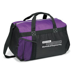 "18"" Polyester Duffel Bag with Front Mesh Pocket"
