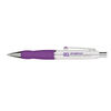Brass Ballpoint Pen with Soft Rubber Grip Feature Mix and Match Color Components and Full-Color Printing