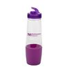 28 oz Water Bottle with Flip-Top Lid and Storage on the Bottom