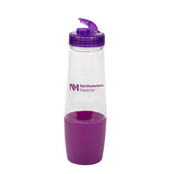 28 oz Water Bottle with Flip-Top Lid and Pill Cup Storage on the Bottom