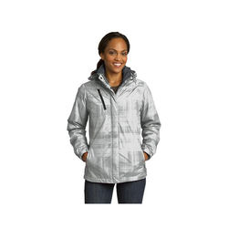 Ladies' Brushstroke Print Insulated Jacket