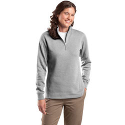 Ladies' Mid-weight Quarter Zip Sweatshirt with Collar - Expanded Colors