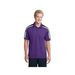 Men's Tricolor Shoulder Micropique Moisture-Wicking Polo