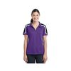 Ladies' Tricolor Shoulder Micropique Moisture-Wicking Polo