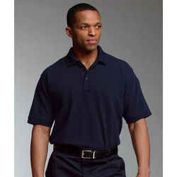 Men's Short Sleeve Polo for First Responders with Dual-Pen Pocket on Sleeve and Loop for Mic/Sunglasses
