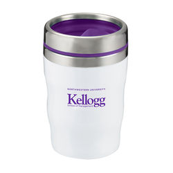 "12 oz Acrylic ""Short"" Coffee Tumbler with Colored Lid is Keurig-Ready"