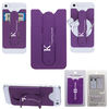 3-In-1 Silicone Phone Wallet and Phone Stand Attaches to Your Smart Phone or Case - Includes Retail Packaging