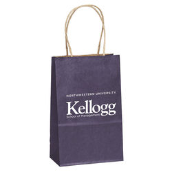 "Matte Paper Shopping Bag - 5.25"" x 8.25"" - Foil Imprint"