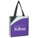 """15"""" x 16"""" Non-Woven 3-Tone Conference Tote Bag with 24"""" Handles"""