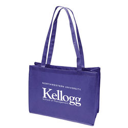"16"" x 12"" Non-Woven Shoulder Tote with 28"" Handles"