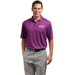 Mens' Moisture Wicking Fine Jacquard Polo