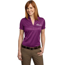 Ladies' Moisture Wicking Fine Jacquard Polo
