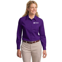 Ladies' Solid (30+ colors!) Long Sleeve Easy Care Shirt (Good)