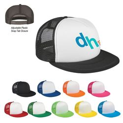 5-Panel Flat Bill Trucker Cap
