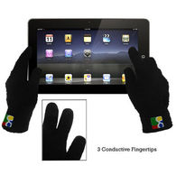 Touchscreen Texting Gloves  - Fuzzy (Stylus Pads on 3 Fingers)