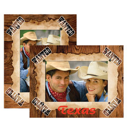 """5"""" x 7"""" Western Wanted Theme Paper Easel Frames"""