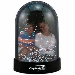 Magnetic 'Insert Your Own Photo or Message' Snow Globe