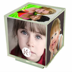 "Spinning Photo Frame Holds Five 3.5""x 3.5"" Photos"