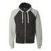 Triblend Raglan Full-Zip Hooded Sweatshirt