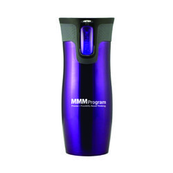 16 oz Contigo® Retail-Inspired Stainless Steel Tumbler with Push-Button Autoseal Opening