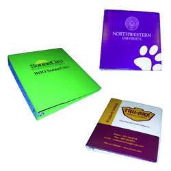 "1/2"" OR 1"" Capacity Heat Sealed Vinyl Binder - Custom Colors"