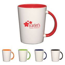 12 oz. Ceramic Mug with Color Accents