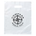 "Frosted Color Plastic Bag with Die Cut Handle - 12"" x 15"""