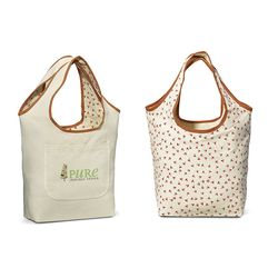 """12"""" x 16"""" Reversible Cotton Tote with Stylish Patterns"""