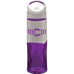 28 oz Dishwasher-Safe Water Bottle with Geometric Texture and Flip-up Straw
