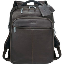 "Kenneth Cole® Colombian Leather TSA Compliant Compu-Backpack (Holds up to 17"" laptops & all tablets)"