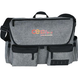 "Trendy ""Snow Canvas"" Compu-Messenger Bag - Holds up to 17"" Laptops"