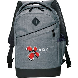 "Trendy ""Snow Canvas"" Compu-Backpack Holds up to 15"" Laptops"