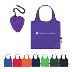 "14.5"" x 16"" Polyester Folding Tote w/Cinch Closure"