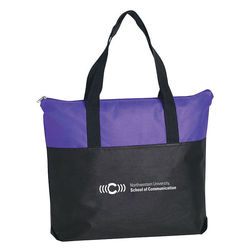 """18"""" x 15"""" Non-Woven Zippered Tote Bag"""