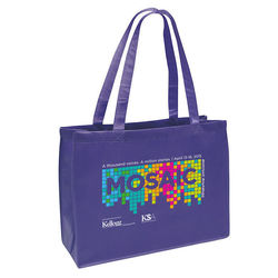 "20"" x 16"" Non-Woven Shoulder Tote with 28"" Handles - Full Color Printing"