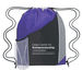"""13"""" x 17.75"""" Tri-Color Drawstring Cinch Backpack with Outer Mesh Pocket"""