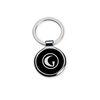 Circle Metal Black Laquer Key Tag