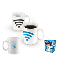10 oz Hotspot Mug Shows a Wi-Fi 'Connection' Once a Hot Liquid is Added