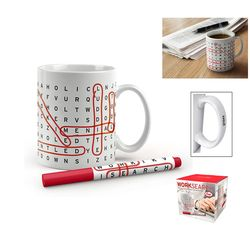 10 oz Fred & Friends® Work Search Mug with Washable Red Marker