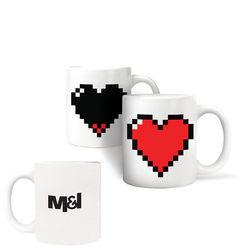 11 oz Kikkerland® Heart Morph Mug