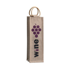 Orangebag® Natural Jute Single Wine Tote
