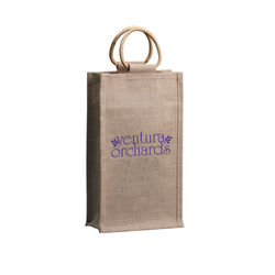 Orangebag® Natural Jute Double Wine Tote