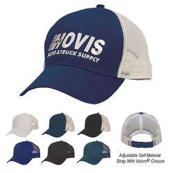 6-Panel Cotton Medium Profile Mesh Back Cap with Velcro® Closure